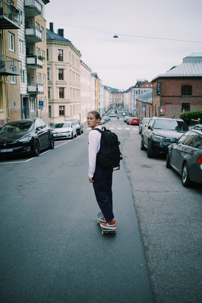 Sarah Meurle in Oslo with CHPO Brand & Pocket Skate Mag