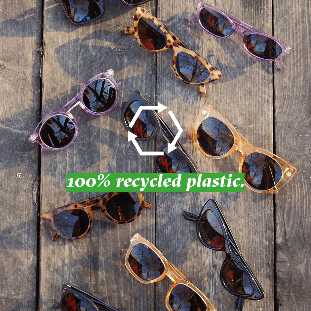 100%recycled plastic sunglasses